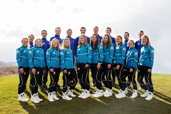 Team photo with new Craft and LLBean gear (photo by FlyingPoint)