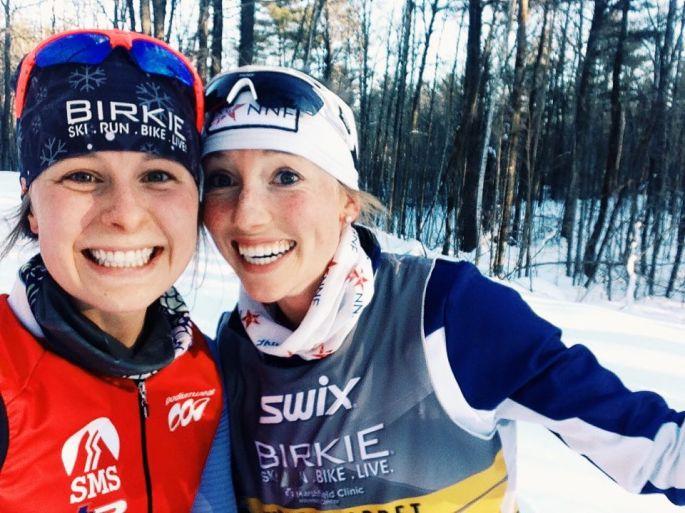 Anne and Erika take on the Birkie trail!