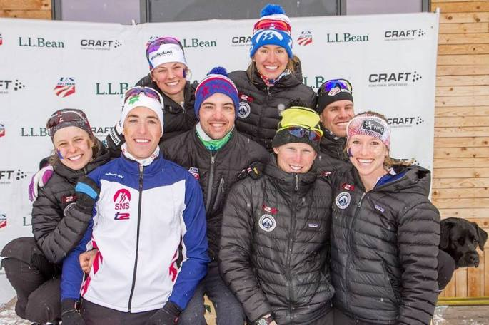 Anne, Paddy, Jessie, Ben, Sophie, Pat, Simi and Erika at Spring Series (photo by Reese Brown)