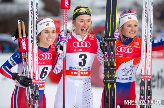 Sophie winning her first World Cup! (photo by Marcel Hilger)