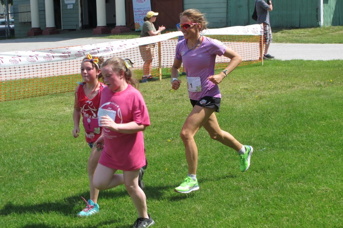 Running through the heat and humidity! (photo from Lilly Caldwell)