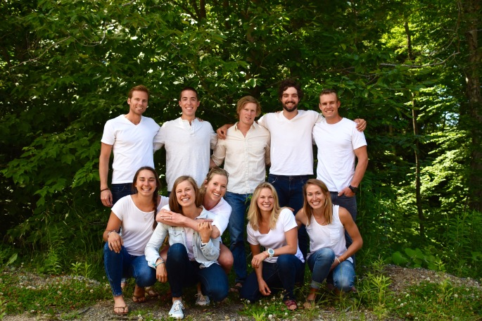 Meet the team: Andy, Paddy, Coach Pat, Ben, Simi, Julia, Anne, Erika, Jessie and Sophie.