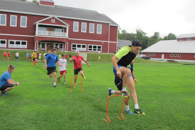 The SMS juniors and the Quebec training team working on agility together! (photo by Lilly Caldwell)