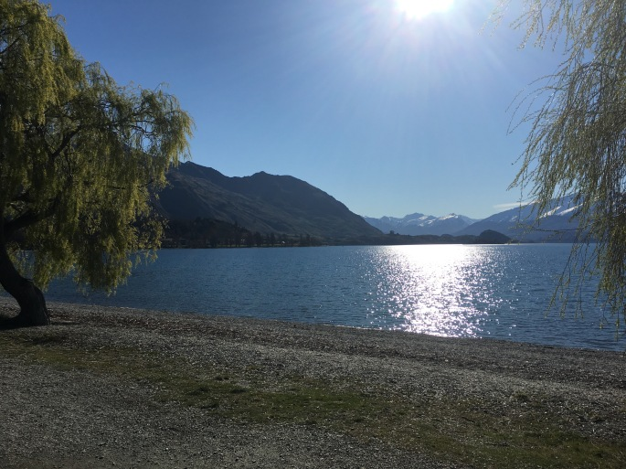 The beach at Wanaka