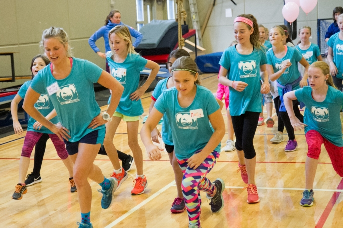 Jessie was pumped to lead the dance and circuit station! (photo by Reese Brown)