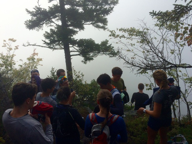 We hit the summit 30 minutes too early to catch a view. (OD run #2)