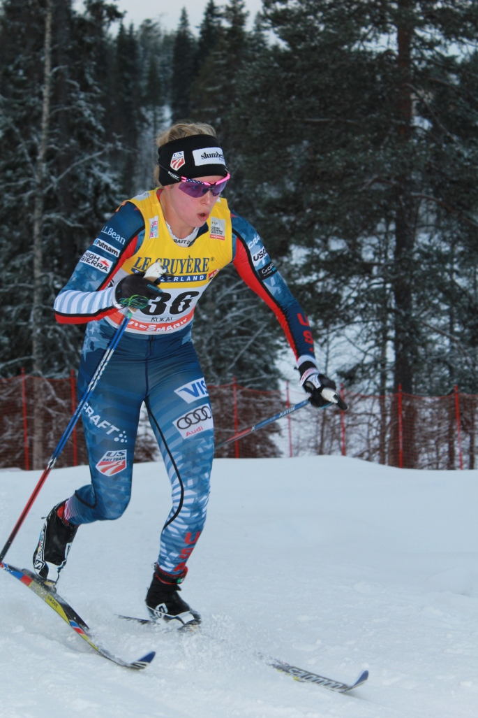 Jessie racing in Kuusamo (Simi photo)