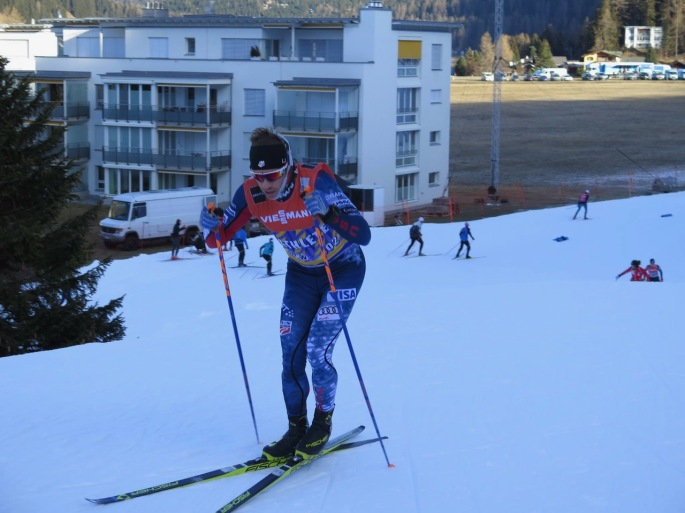 Doing hard sprint intervals on the course this morning (photo: Sverre Caldwell)