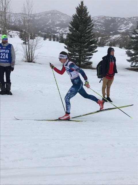 Julia sprinting away!