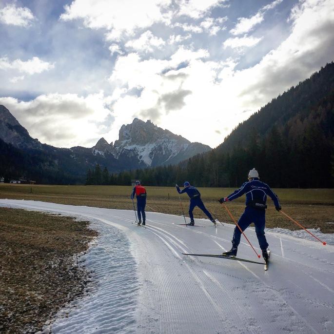 Training on the snow ribbon!